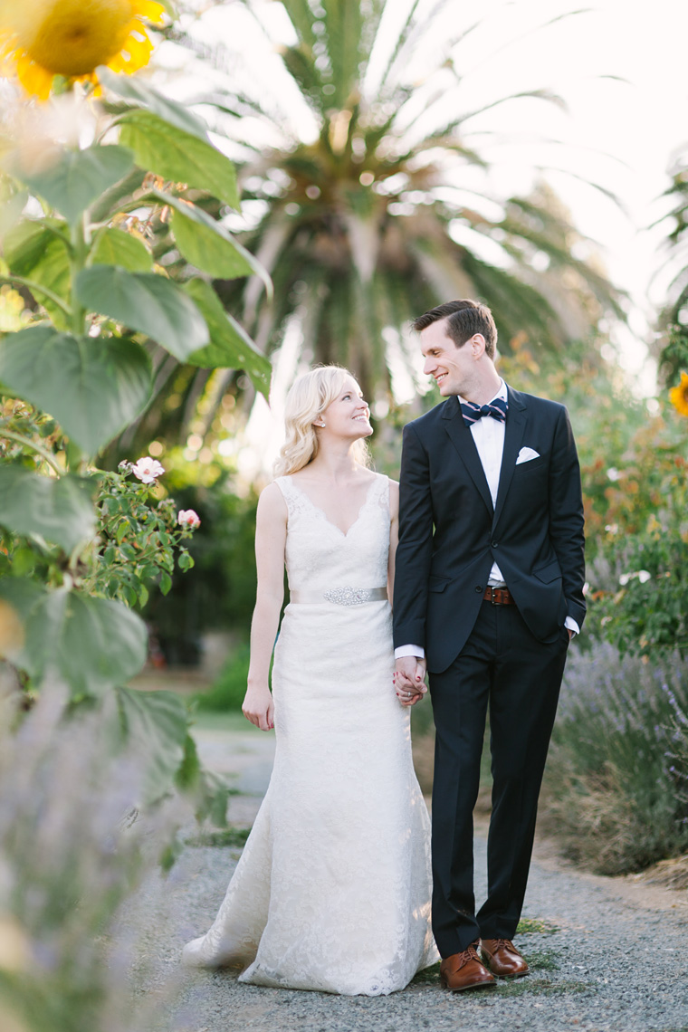 Sunflower Garden Wedding Portrait