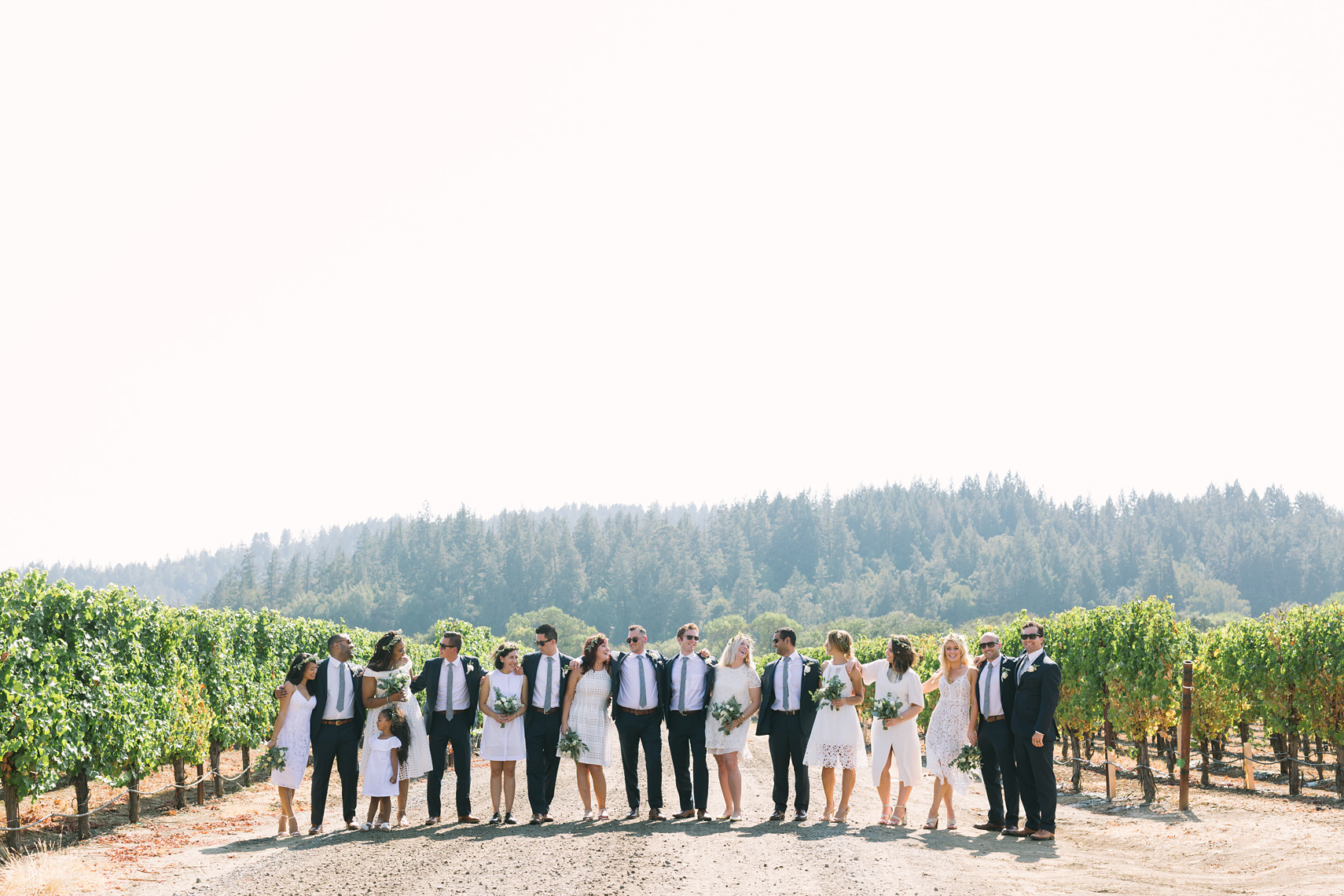 Winery Wedding Party