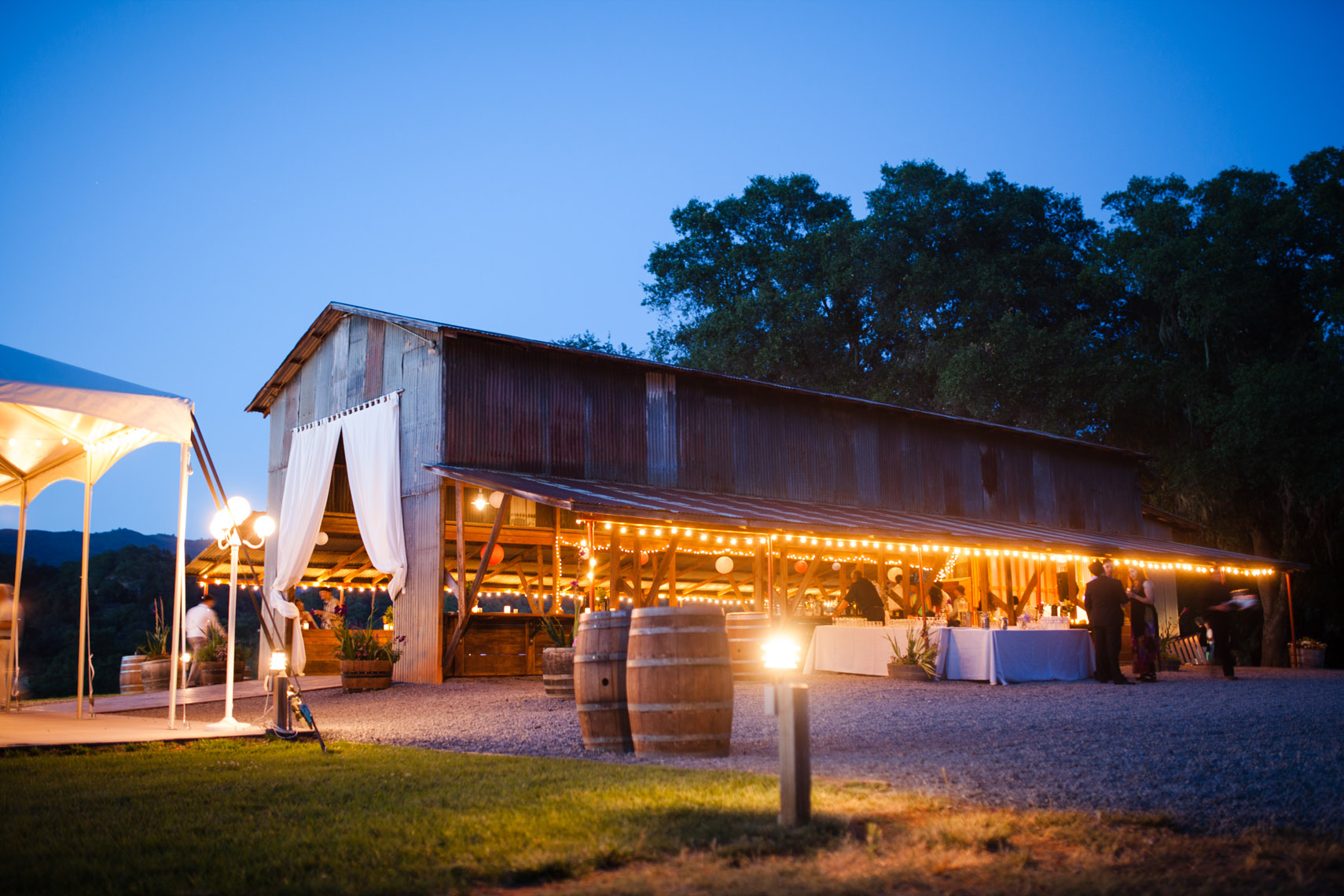 California Barn Wedding Reception